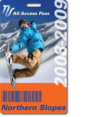 Northern Slope Ski Pass with barcode