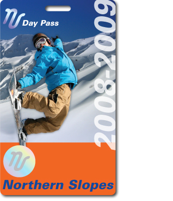 Northern Slope Ski Pass with printed hologram