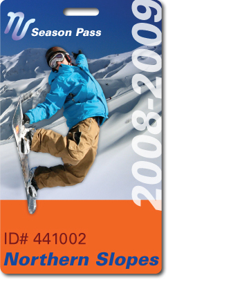 Northern Slope Ski Pass with numbering