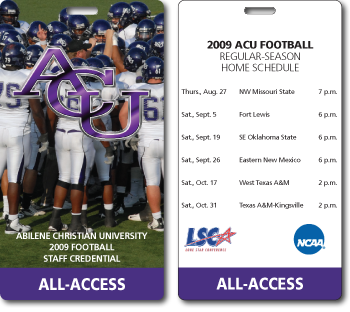 Abilene Christian Sports Pass with Schedule